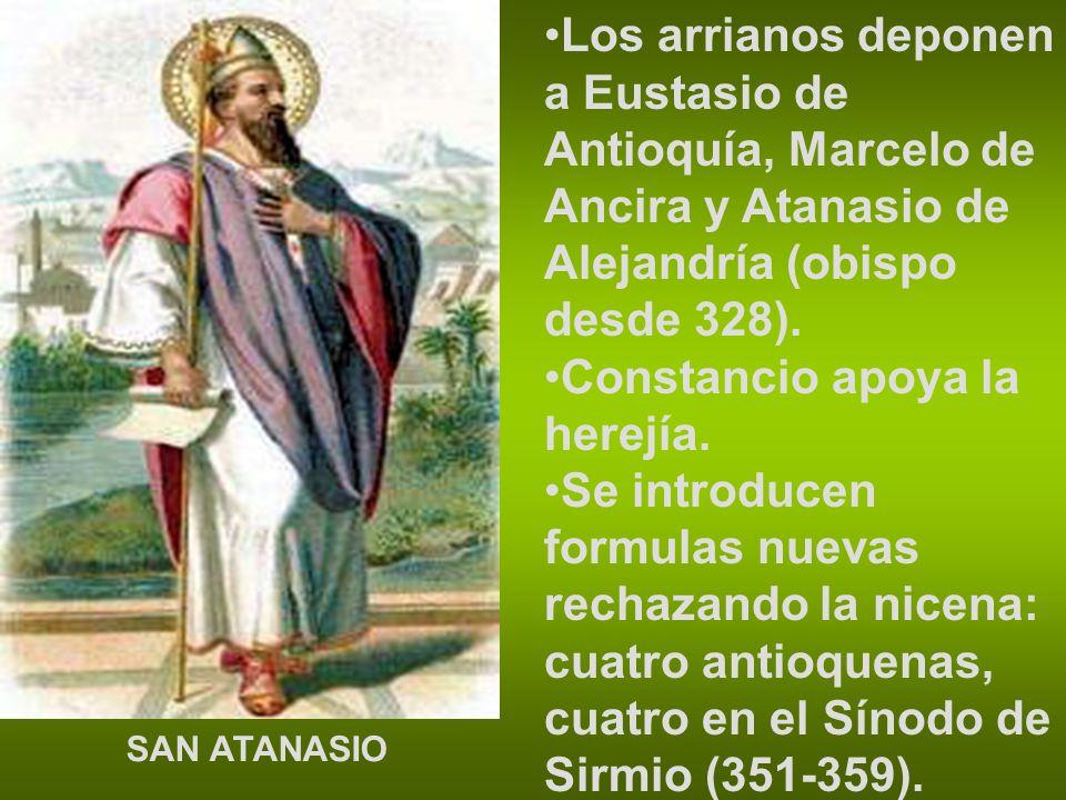 Constancio apoya la herejía.