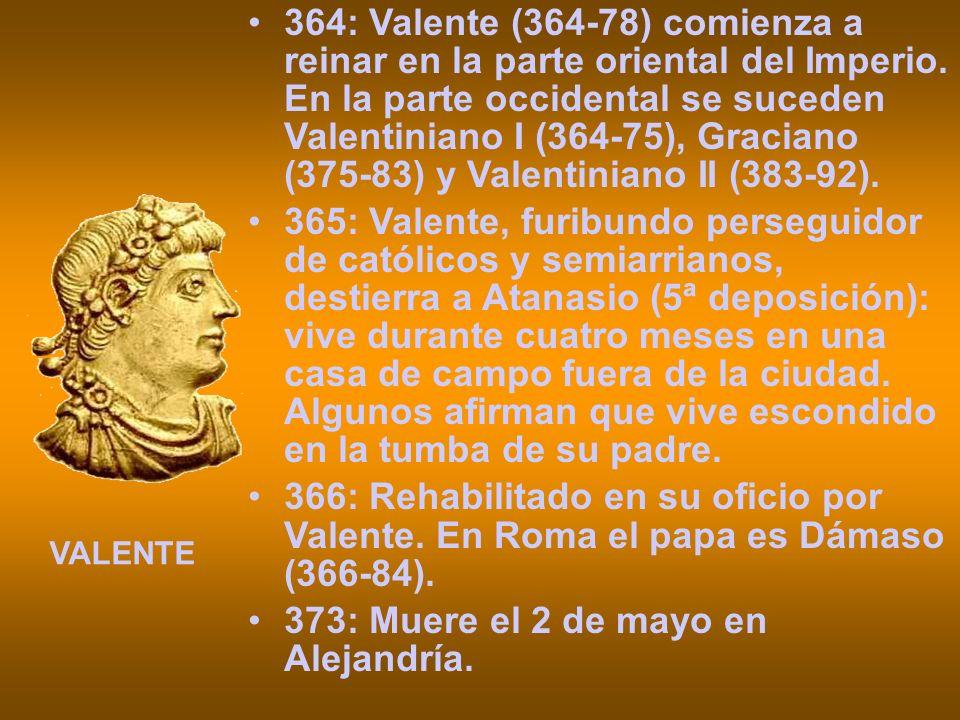 373: Muere el 2 de mayo en Alejandría.