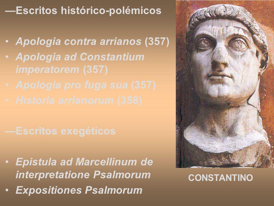—Escritos histórico-polémicos Apologia contra arrianos (357)