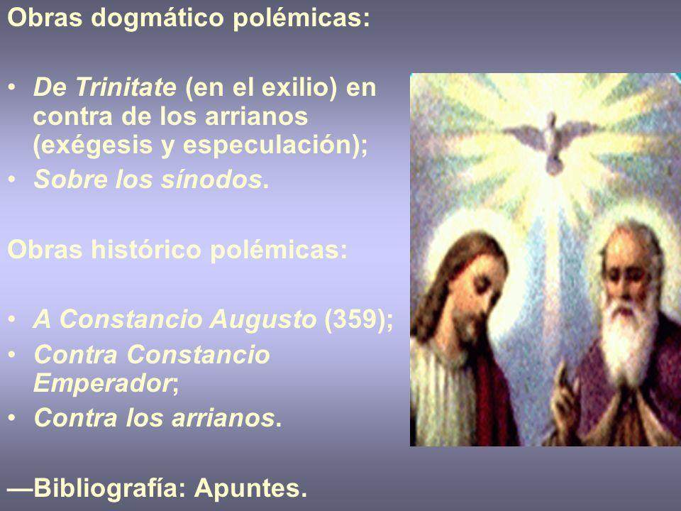 Obras dogmático polémicas: