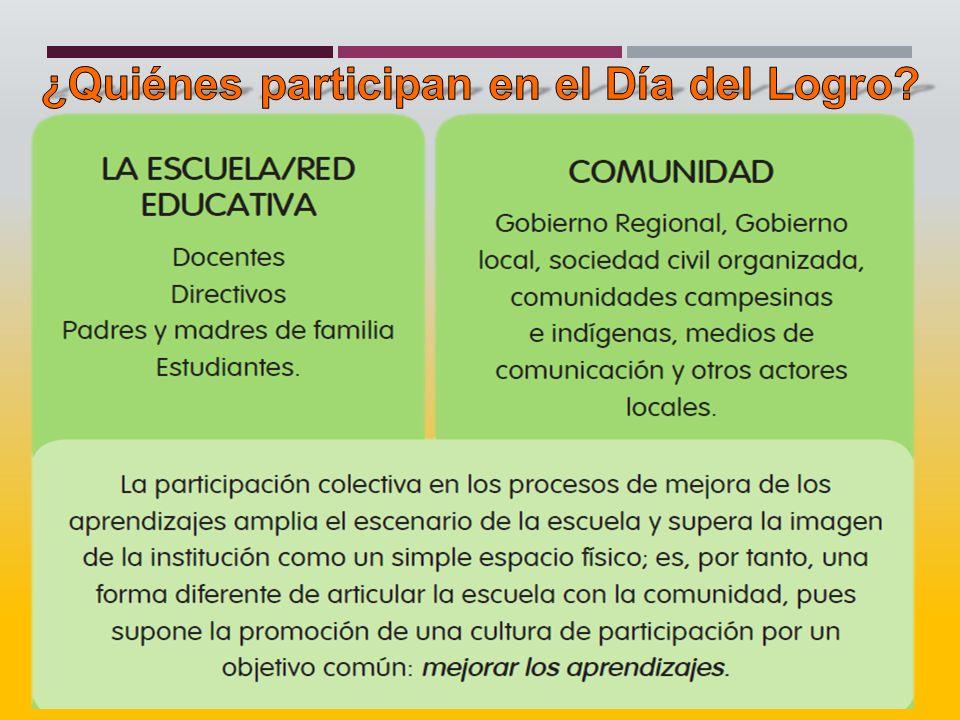 ¿Quiénes participan en el Día del Logro