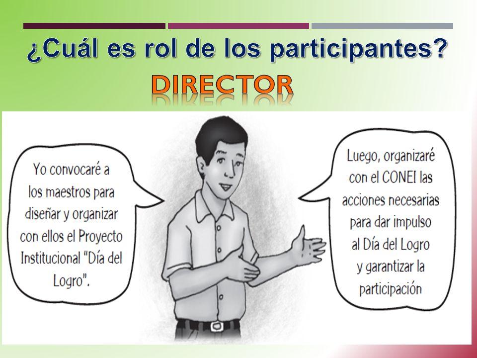 ¿Cuál es rol de los participantes