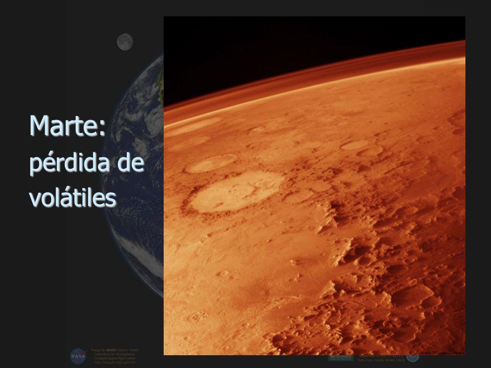 Marte: pérdida de volátiles