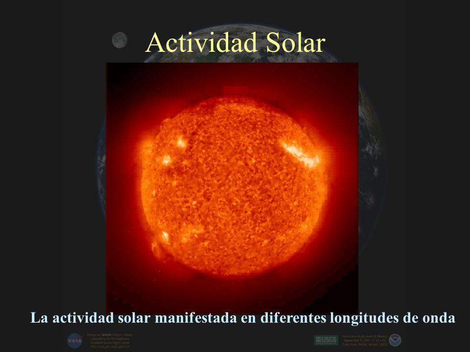 La actividad solar manifestada en diferentes longitudes de onda