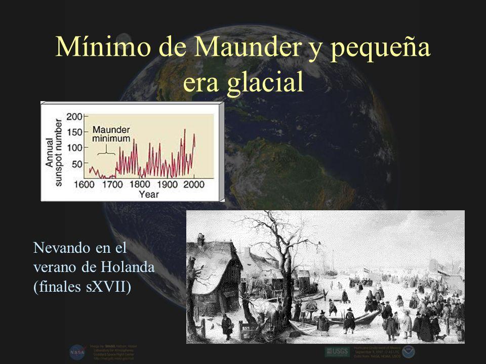 Mínimo de Maunder y pequeña era glacial
