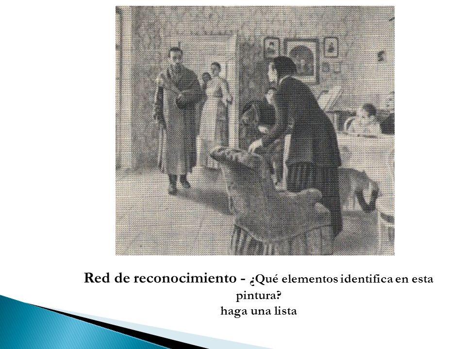 Red de reconocimiento - ¿Qué elementos identifica en esta pintura