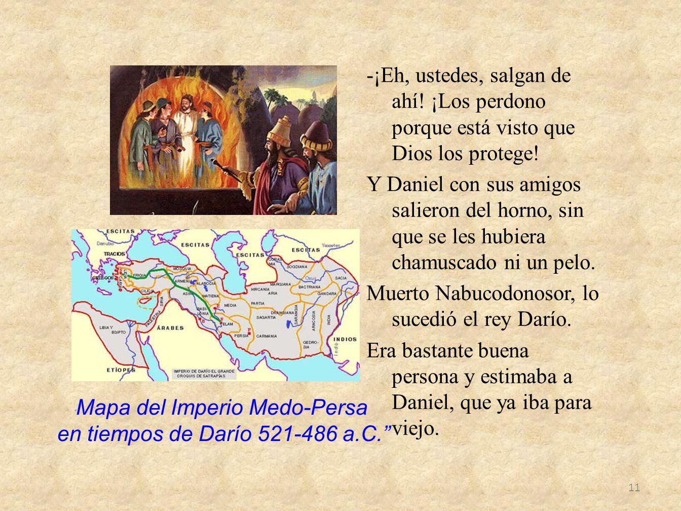 Mapa del Imperio Medo-Persa en tiempos de Darío 521-486 a.C.