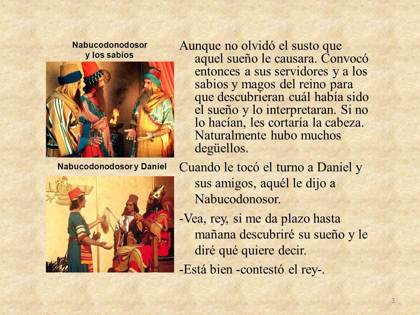 Nabucodonodosor y Daniel