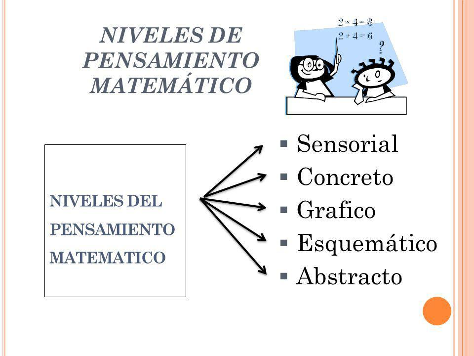 NIVELES DE PENSAMIENTO MATEMÁTICO