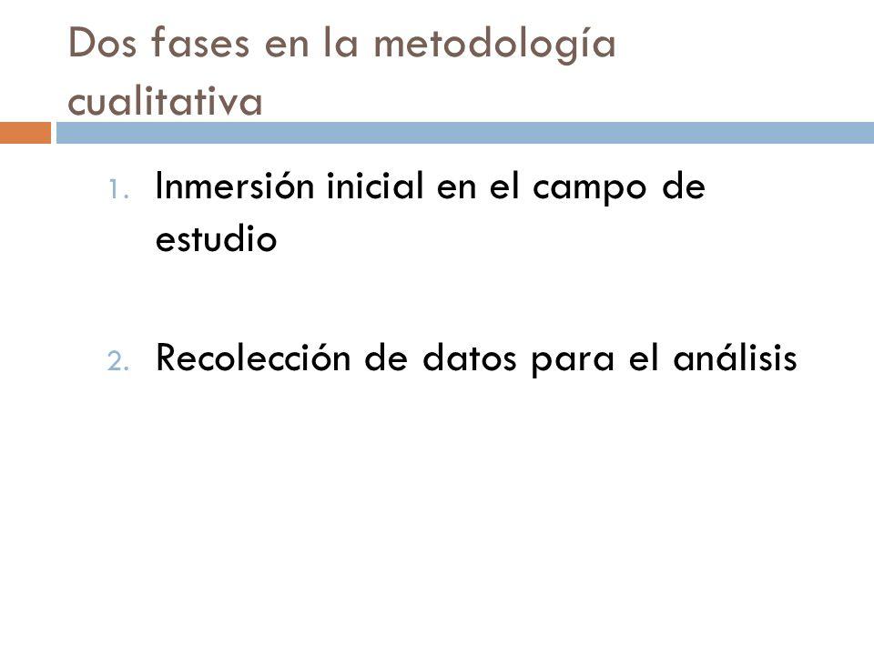 Dos fases en la metodología cualitativa