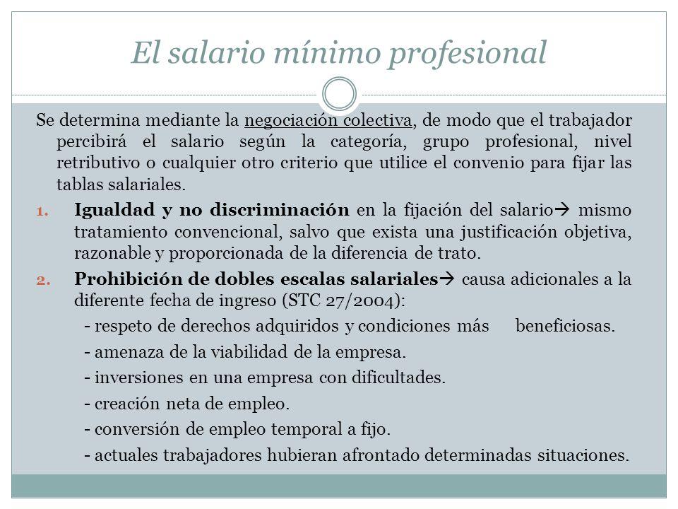 El salario mínimo profesional