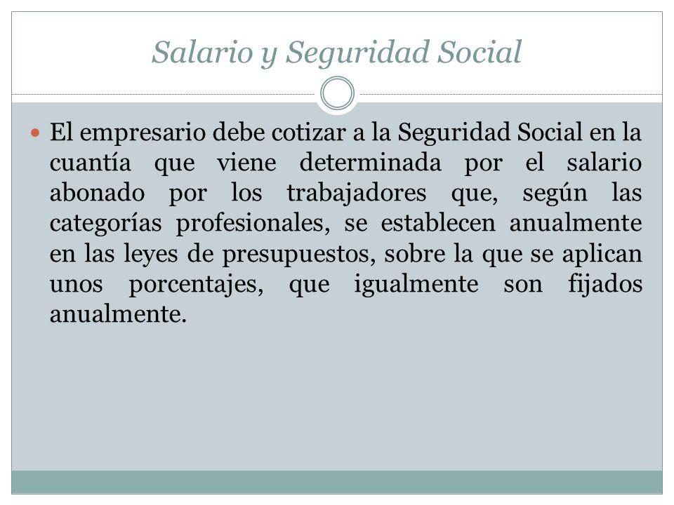 Salario y Seguridad Social