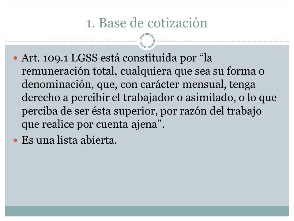 1. Base de cotización