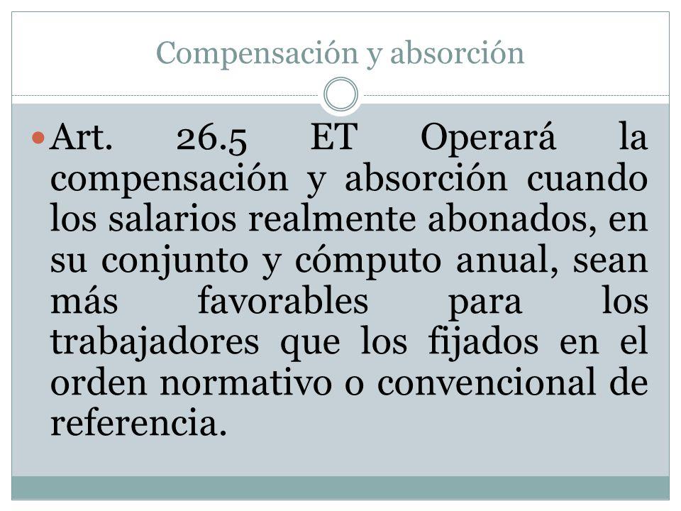 Compensación y absorción