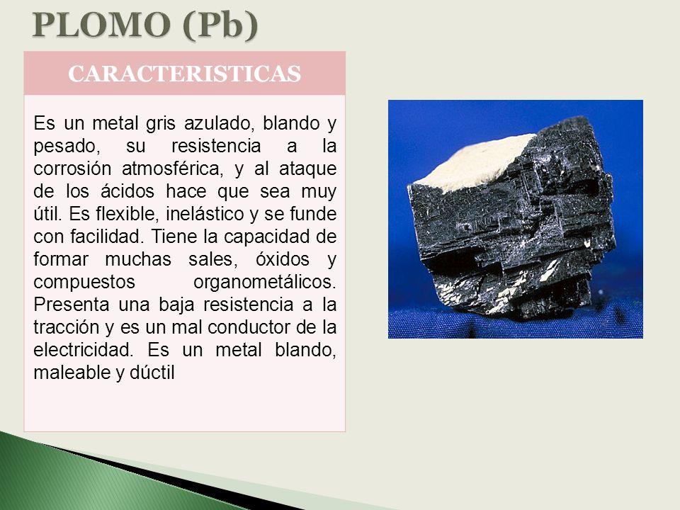 PLOMO (Pb) CARACTERISTICAS