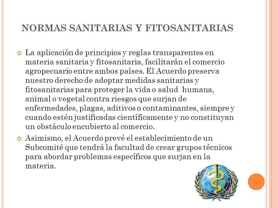NORMAS SANITARIAS Y FITOSANITARIAS