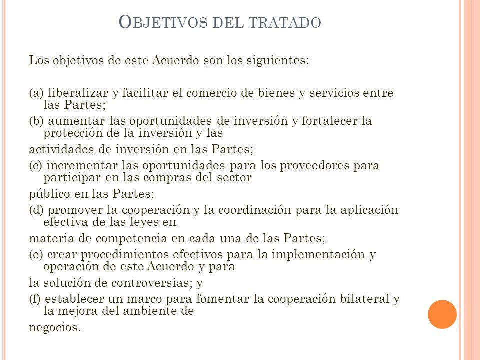 Objetivos del tratado