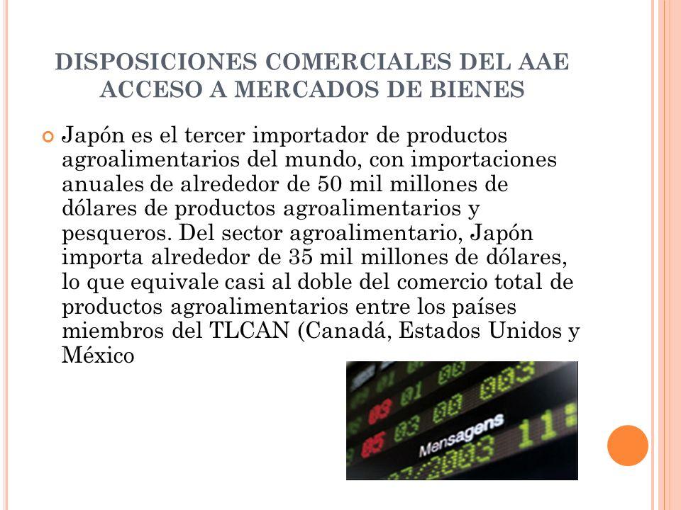 DISPOSICIONES COMERCIALES DEL AAE ACCESO A MERCADOS DE BIENES