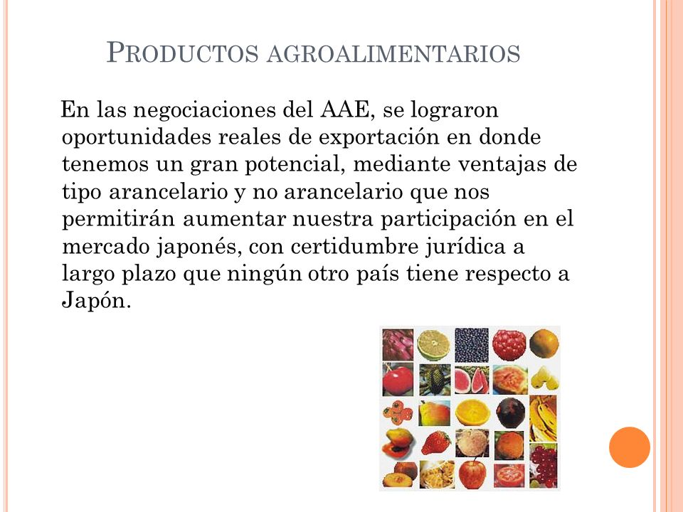 Productos agroalimentarios