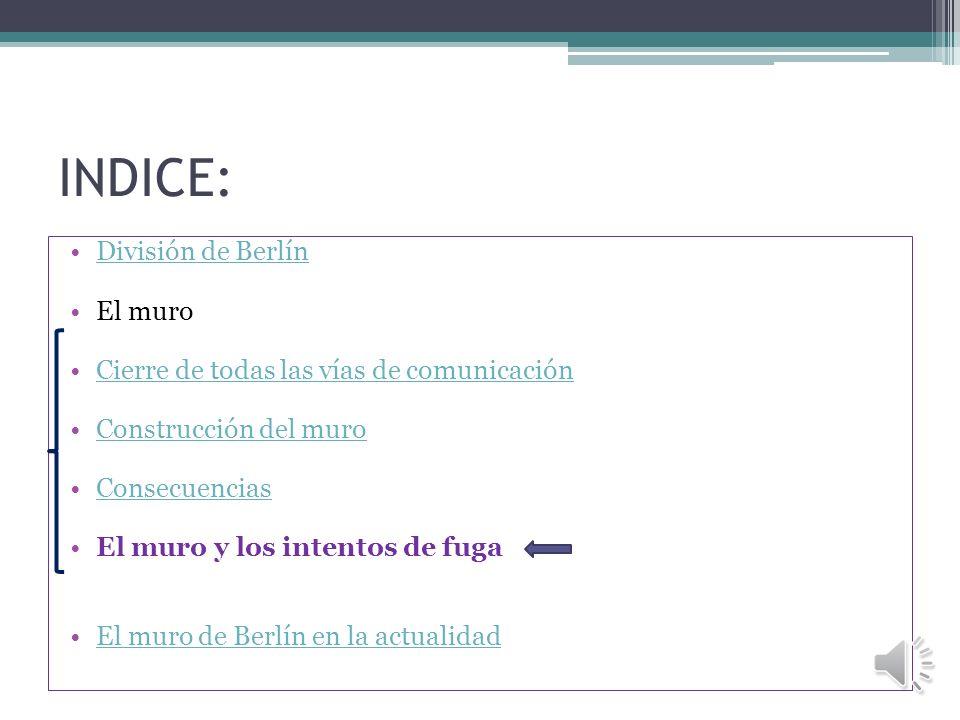 INDICE: División de Berlín El muro