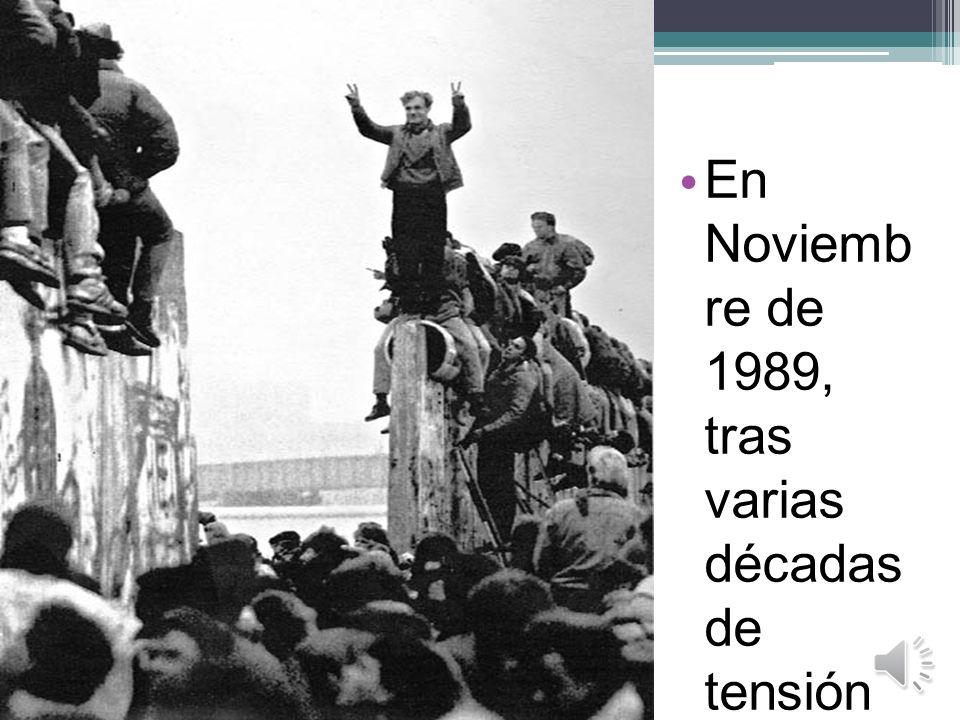 En Noviembre de 1989, tras varias décadas de tensión la Guerra Fría llegaba a su fin.