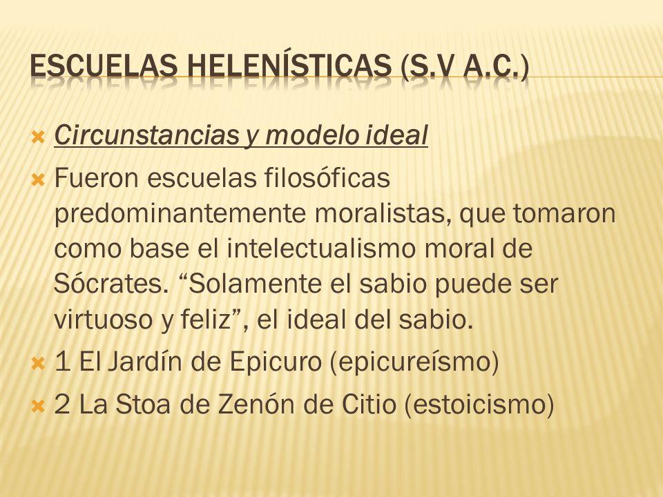 Escuelas helenísticas (s.V a.c.)