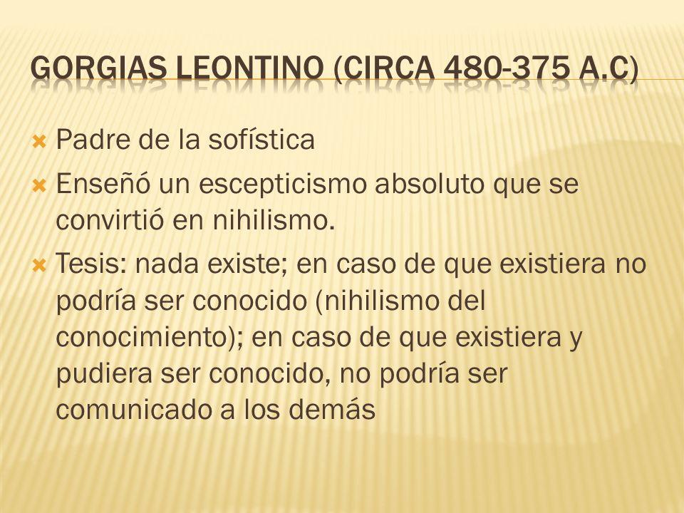 Gorgias LEONTINO (circa 480-375 a.C)