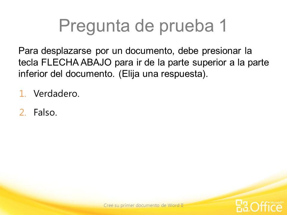 Cree su primer documento de Word II