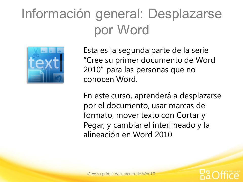 Información general: Desplazarse por Word