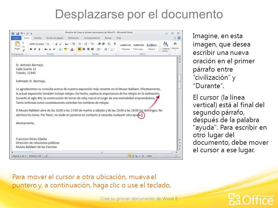 Desplazarse por el documento