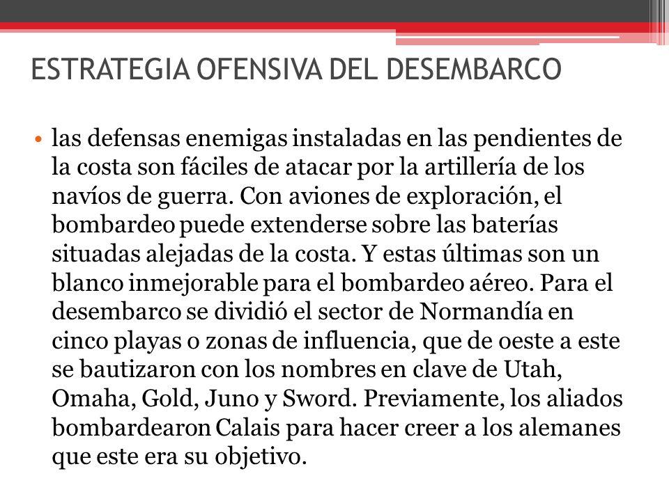 ESTRATEGIA OFENSIVA DEL DESEMBARCO