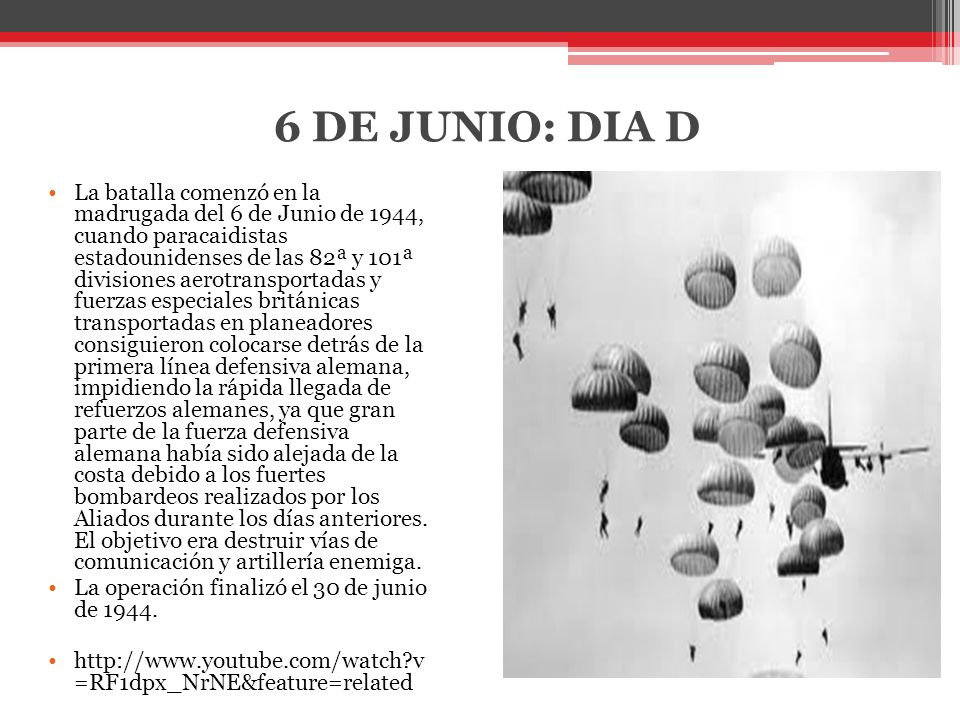 6 DE JUNIO: DIA D