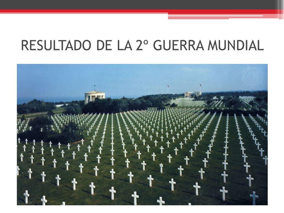 RESULTADO DE LA 2º GUERRA MUNDIAL