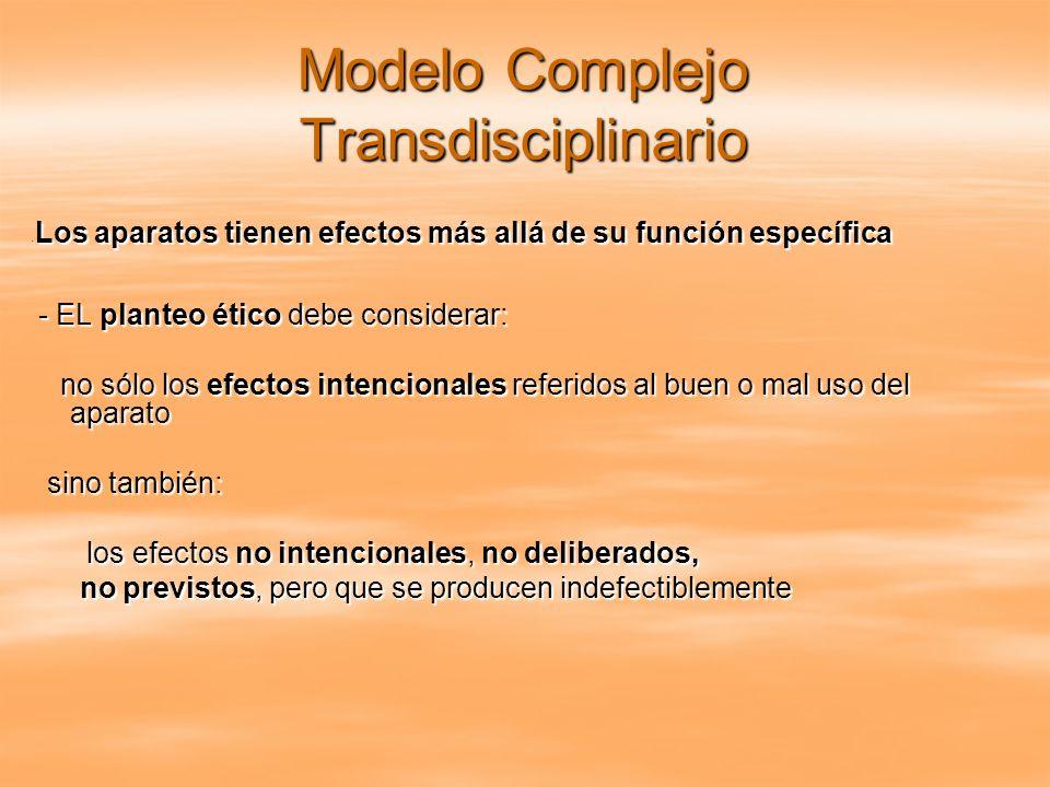 Modelo Complejo Transdisciplinario