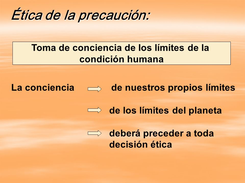 Ética de la precaución: Toma de conciencia de los límites de la