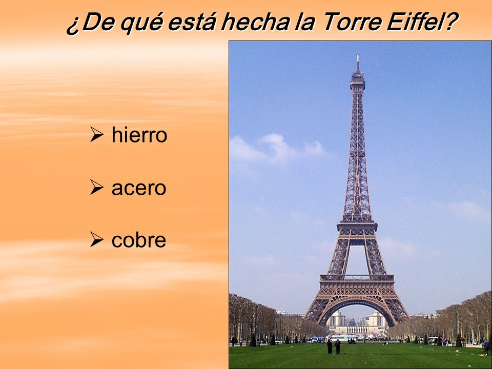 ¿De qué está hecha la Torre Eiffel
