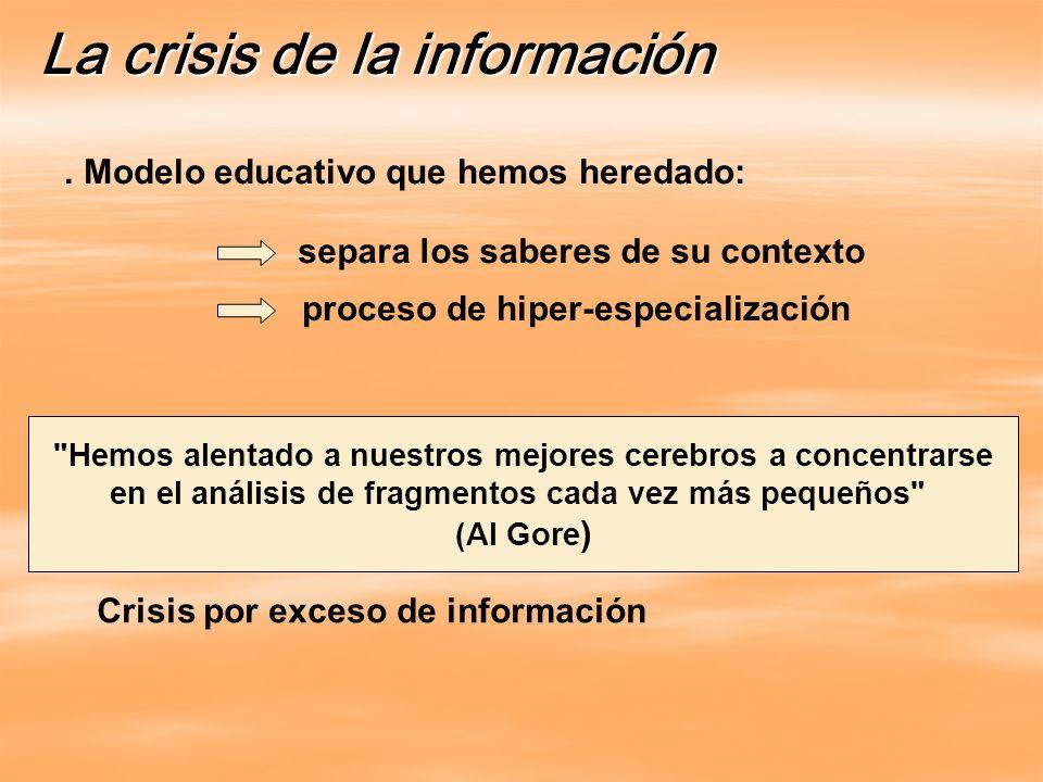 La crisis de la información