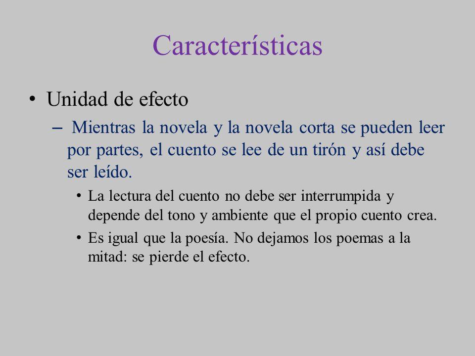 Características Unidad de efecto