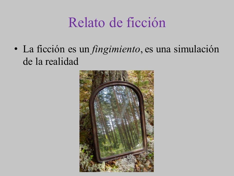 Relato de ficción La ficción es un fingimiento, es una simulación de la realidad
