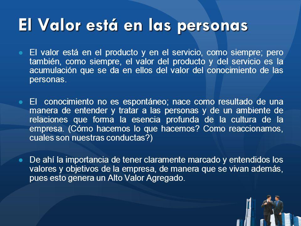 El Valor está en las personas