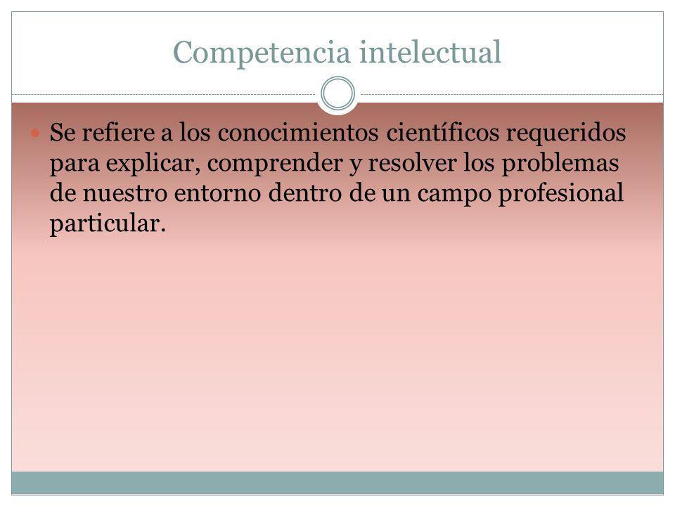 Competencia intelectual