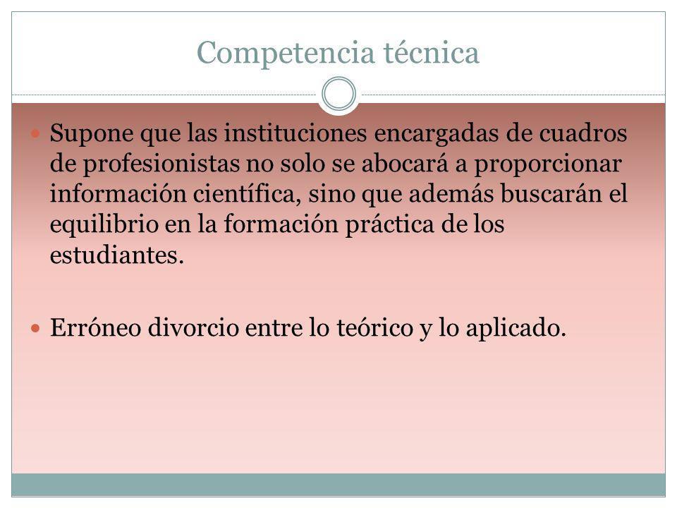 Competencia técnica