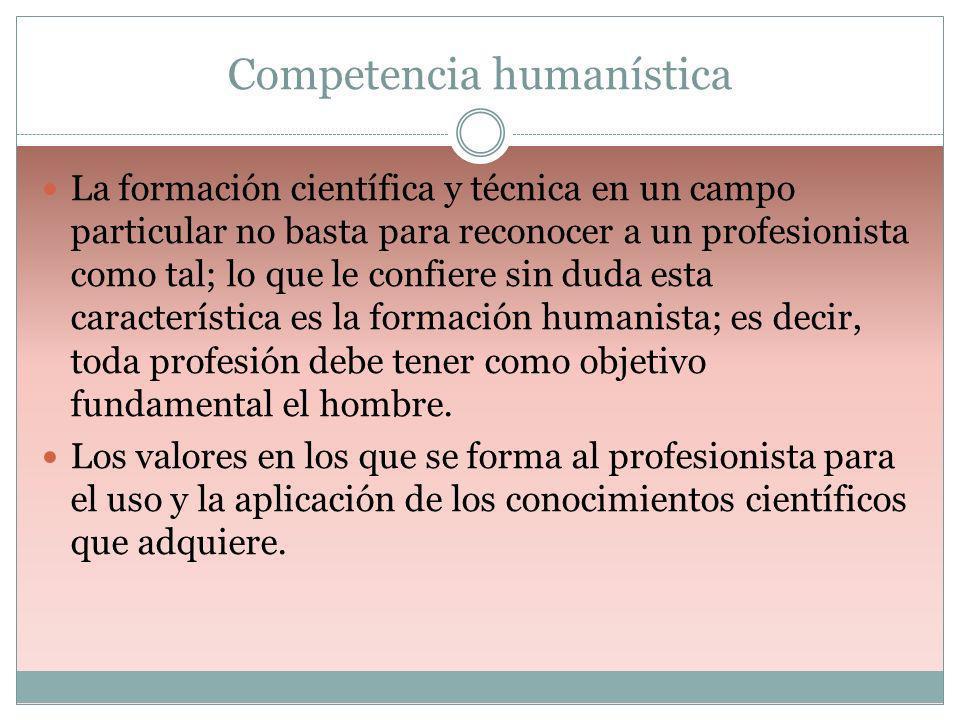 Competencia humanística