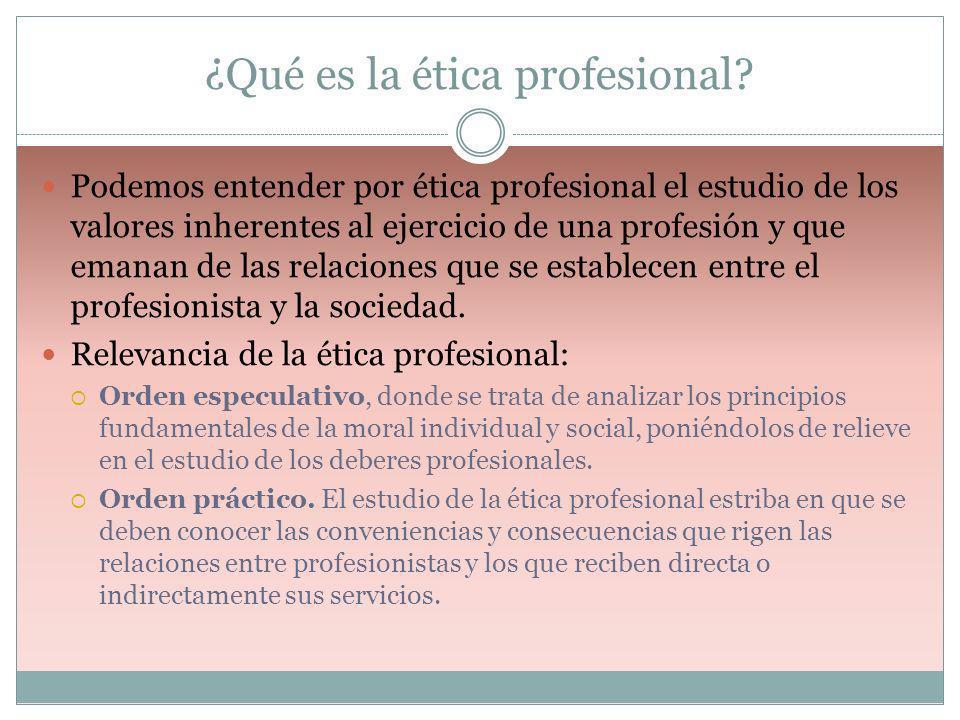 ¿Qué es la ética profesional