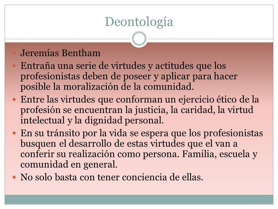 Deontología Jeremías Bentham