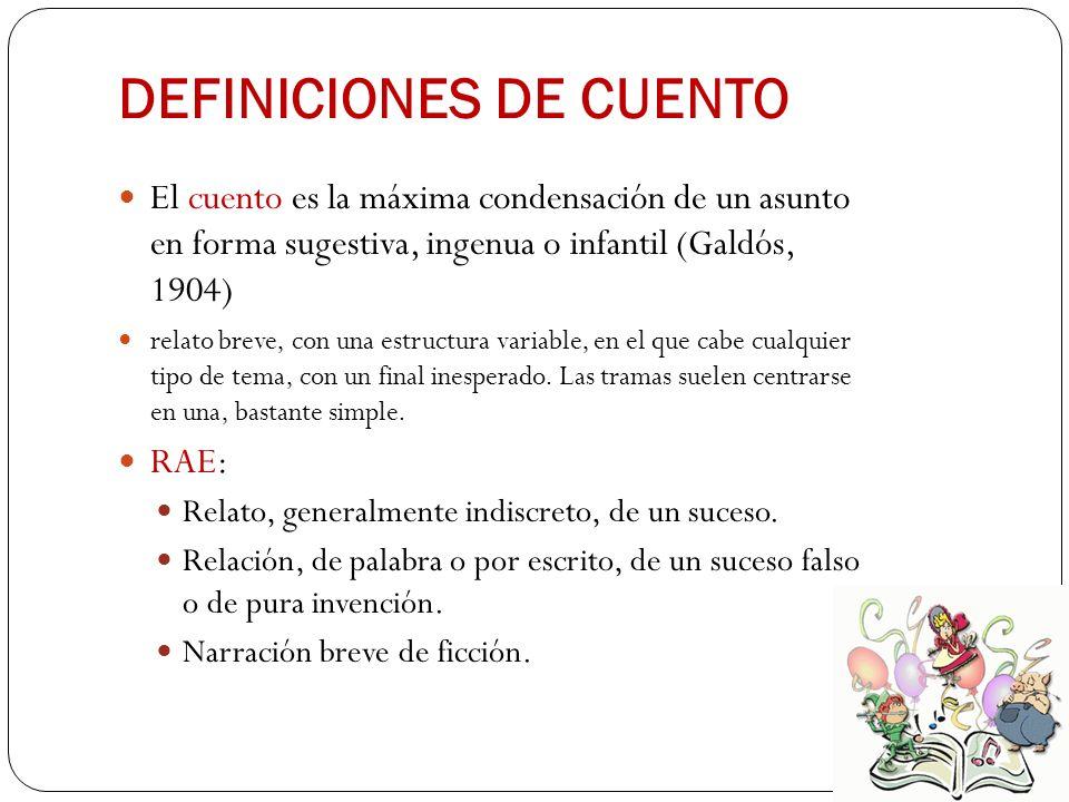 DEFINICIONES DE CUENTO