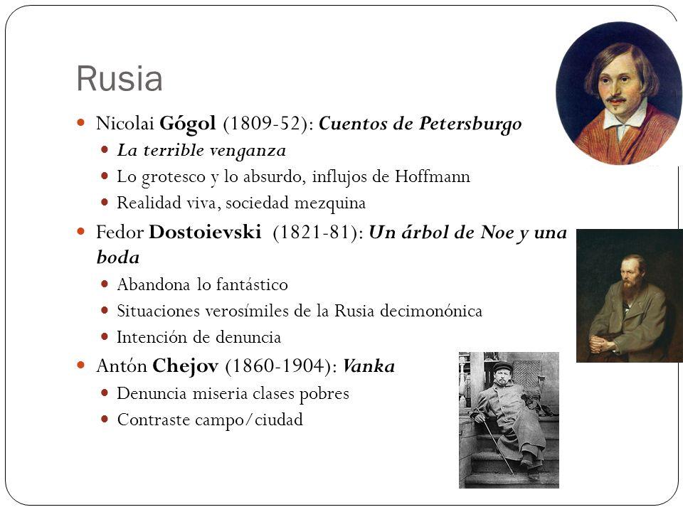 Rusia Nicolai Gógol (1809-52): Cuentos de Petersburgo