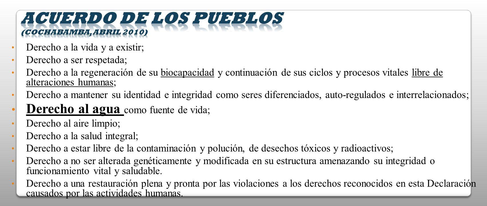 Acuerdo de los Pueblos (Cochabamba, abril 2010)