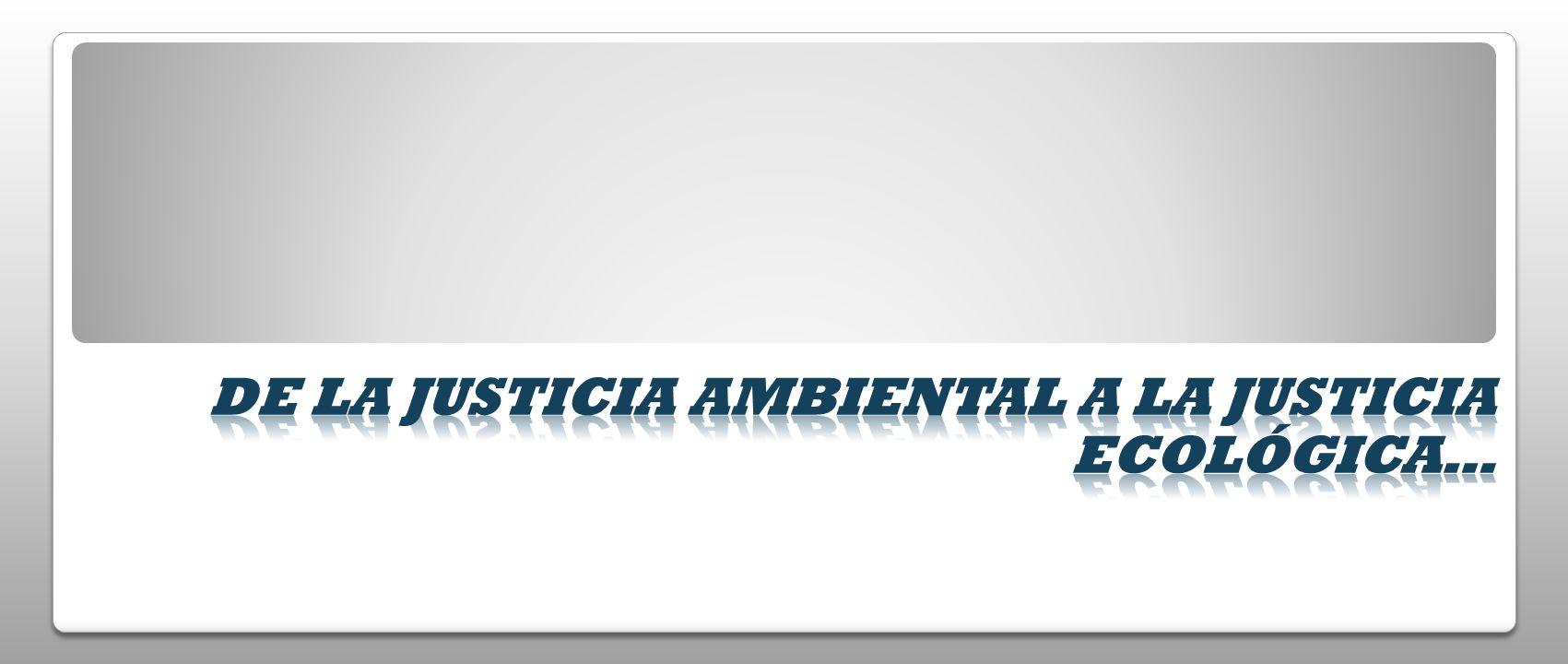 De la justicia ambiental a la justicia ecológica…