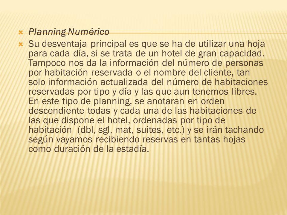 Planning Numérico